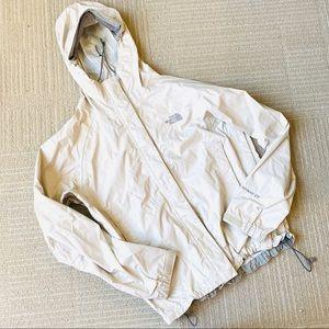 The North Face Cream Hyvent Rain Jacket